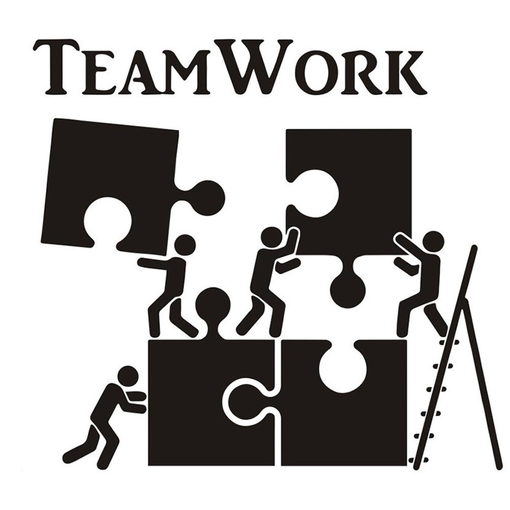 Giấy dán tường chữ TEAMWORK mảnh ghép truyền động lực ý nghĩa