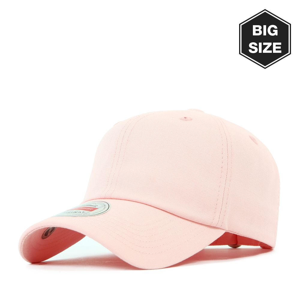 B022 BIG- washing plain ballcap Pink