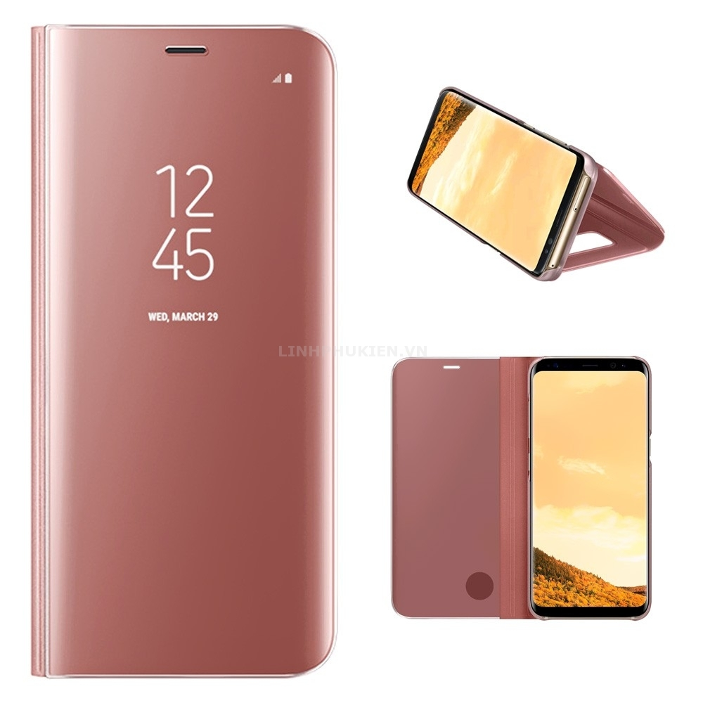 Bao da Clear View Standing Cover Samsung Galaxy S8 Plus hồng (Pink)