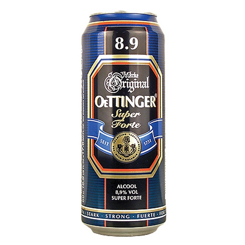 Bia nặng Original Oettinger Super Forte lon 500ml