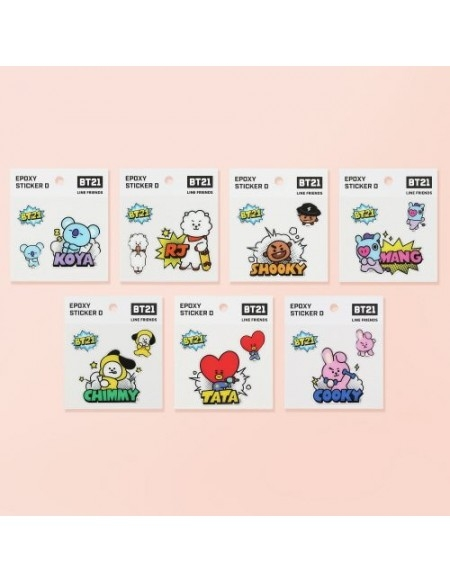 [ CÓ SẴN] - BT21 EPOXY STICKER D OFFICIAL