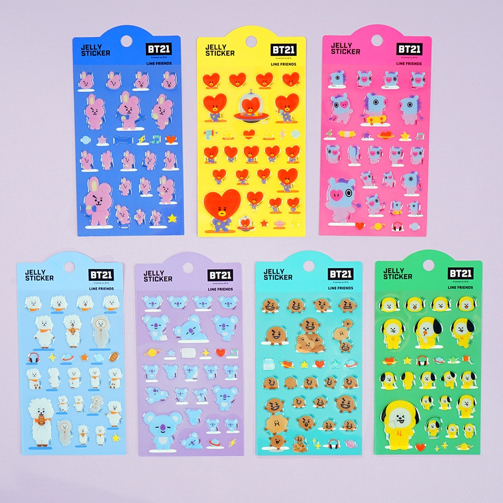 [ CÓ SẴN] - BT21 JELLY STICKER VER.02 OFFICIAL