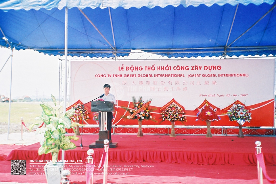The Ground Breaking Ceremony of  Great Global International Co., Ltd