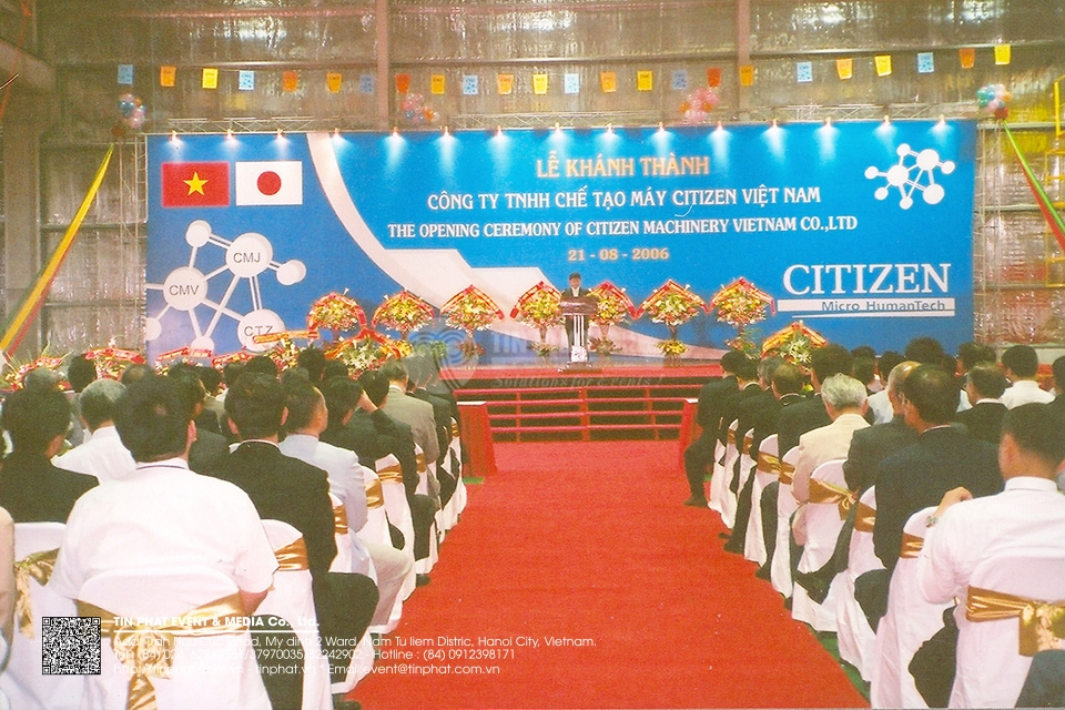 The Opening Ceremony of Citizen Machinery Vietnam Co.,Ltd