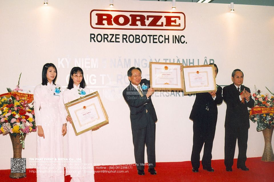 Rorze Robotech Inc.5th Anniversary of Foundation