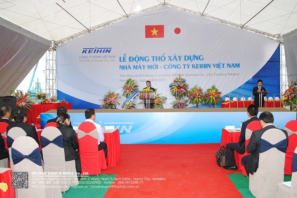 The Ground Breaking Ceremony Keihin Vietnam Co.,Ltd Factory Project