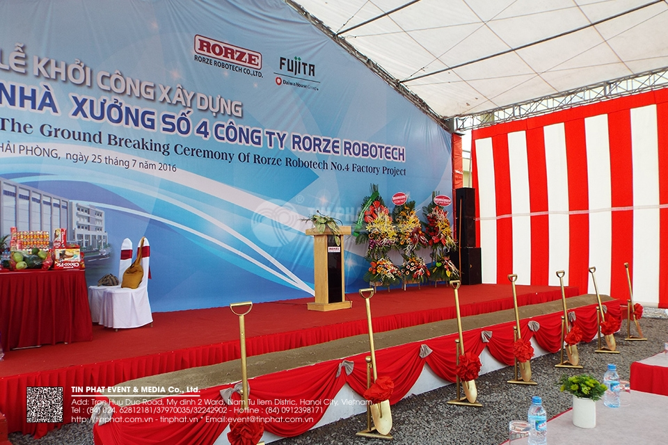 The Ground Breaking Ceremony Of Rorze Robotech No.4 Factory Project