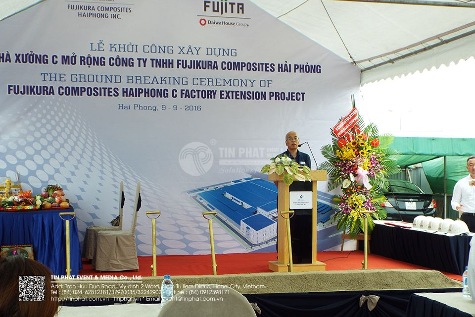 The Ground Breaking Ceremony Of Fujikura Composites Hai Phong C Factory Extension Project