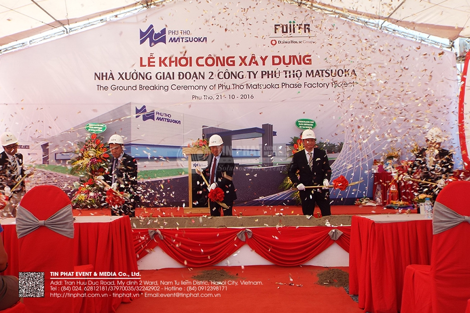The Ground Breaking Ceremony Of Phu Tho Matsuoka Phase Project