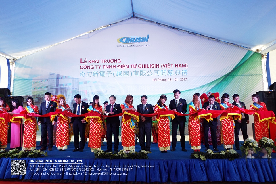 The Opening Ceremony of Chilisin electronics Viet nam Co.,Ltd.