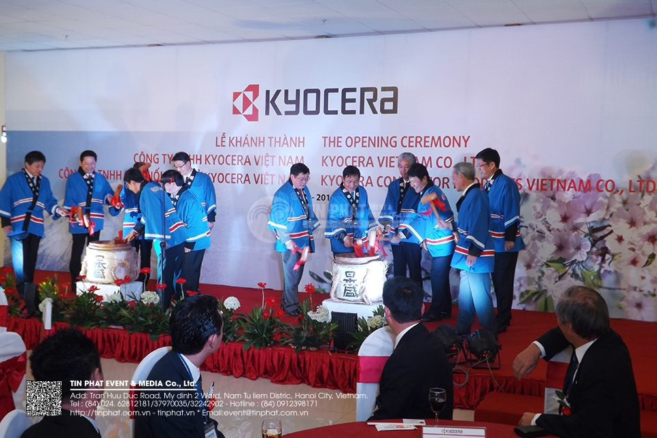 The Opening Ceremony Kyocera Vietnam Co.,Ltd. Kyocera Connector Products Vietnam Co.,Ltd