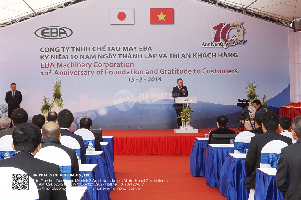 Eba Machinery Corporation 10th Anniversary Of Foundtion And Gratitude To Customers