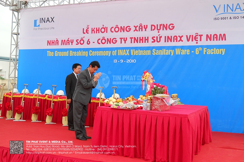 The Opening Ceremony Of Inax Vietnam Sanitary Ware 6th Factory