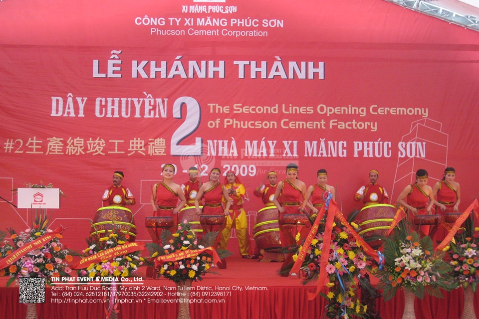 The Opening Ceremony of second line of Phuc Son Cement  Plant
