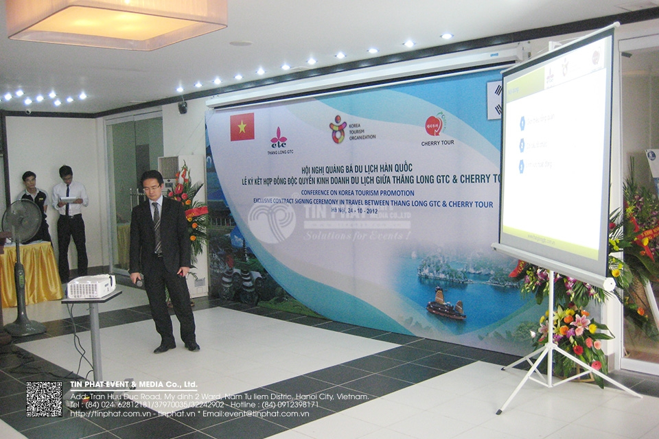 Conference On Korea Tourism Promotion Excusilve Tract Signing Ceremony In Travel  Between Thang Long Gtc & Cherry Tour