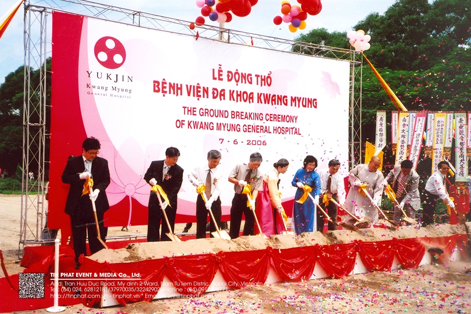 The Ground Breaking Ceremony Of Kwang Myung General Hospital