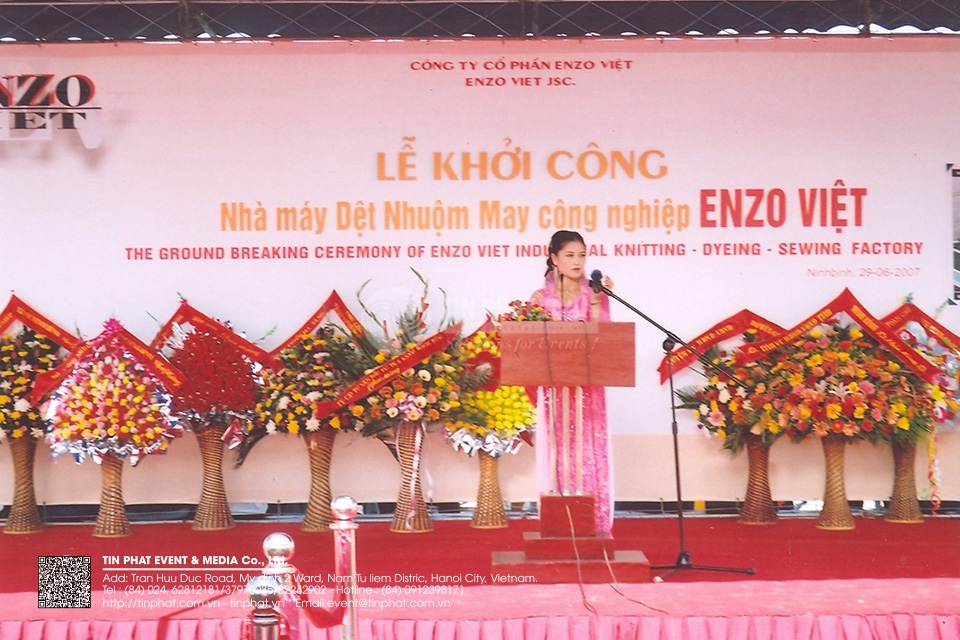 The Ground Breaking Ceremony Of Enzo Viet Industrial Knitting – Dyeing – Sewing Factory
