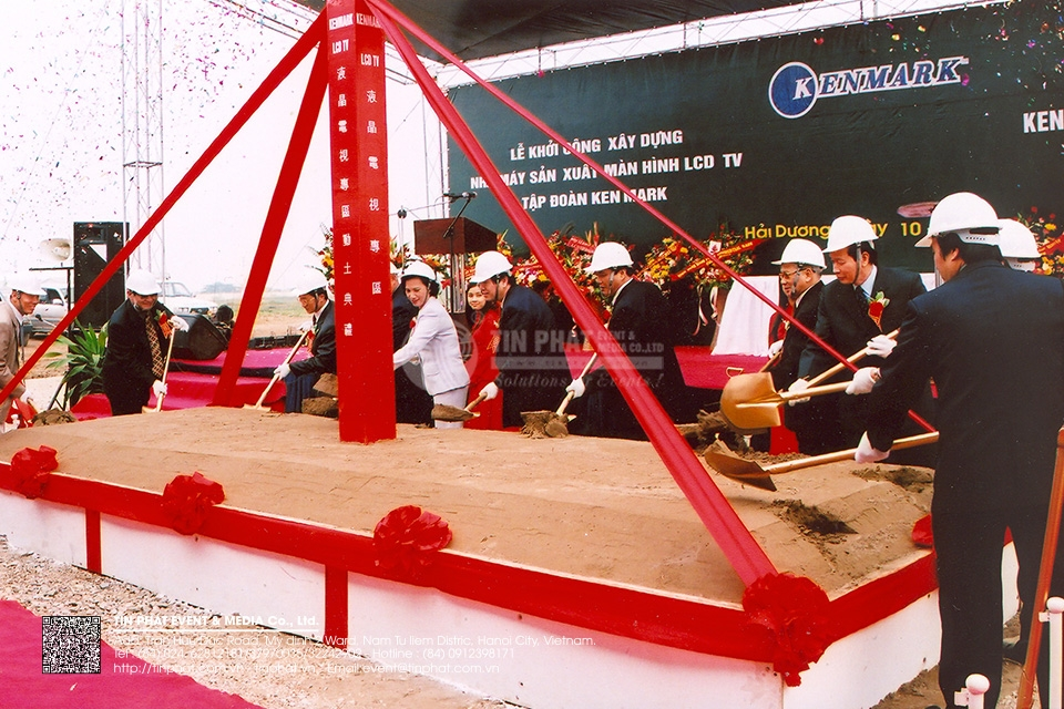 The Ground Breaking Ceremony of Power Systems Co.,Ltd in Vietnam