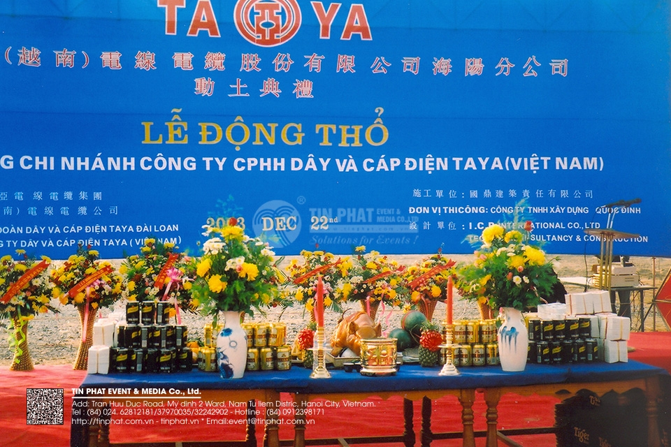 The Ground Breaking Ceremony of TAYA Elictric wire and Cable JSC Hai duong Branch (Vietnam)