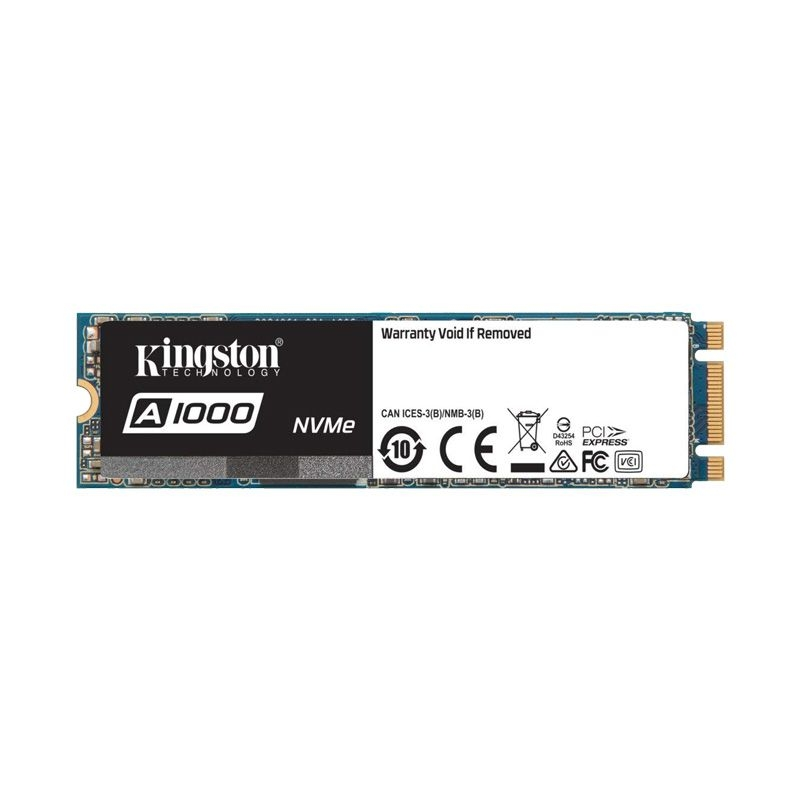 SSD Kingston A1000 PCIe Gen3 x2 NVMe M.2 480GB SA1000M8/480G