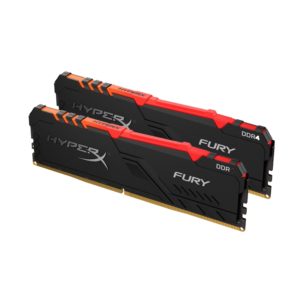 Ram PC Kingston HyperX Fury RGB 32GB (Kit 2x16GB) Bus 3200 DDR4 CL16 DIMM XMP Non-ECC HX432C16FB3AK2/32