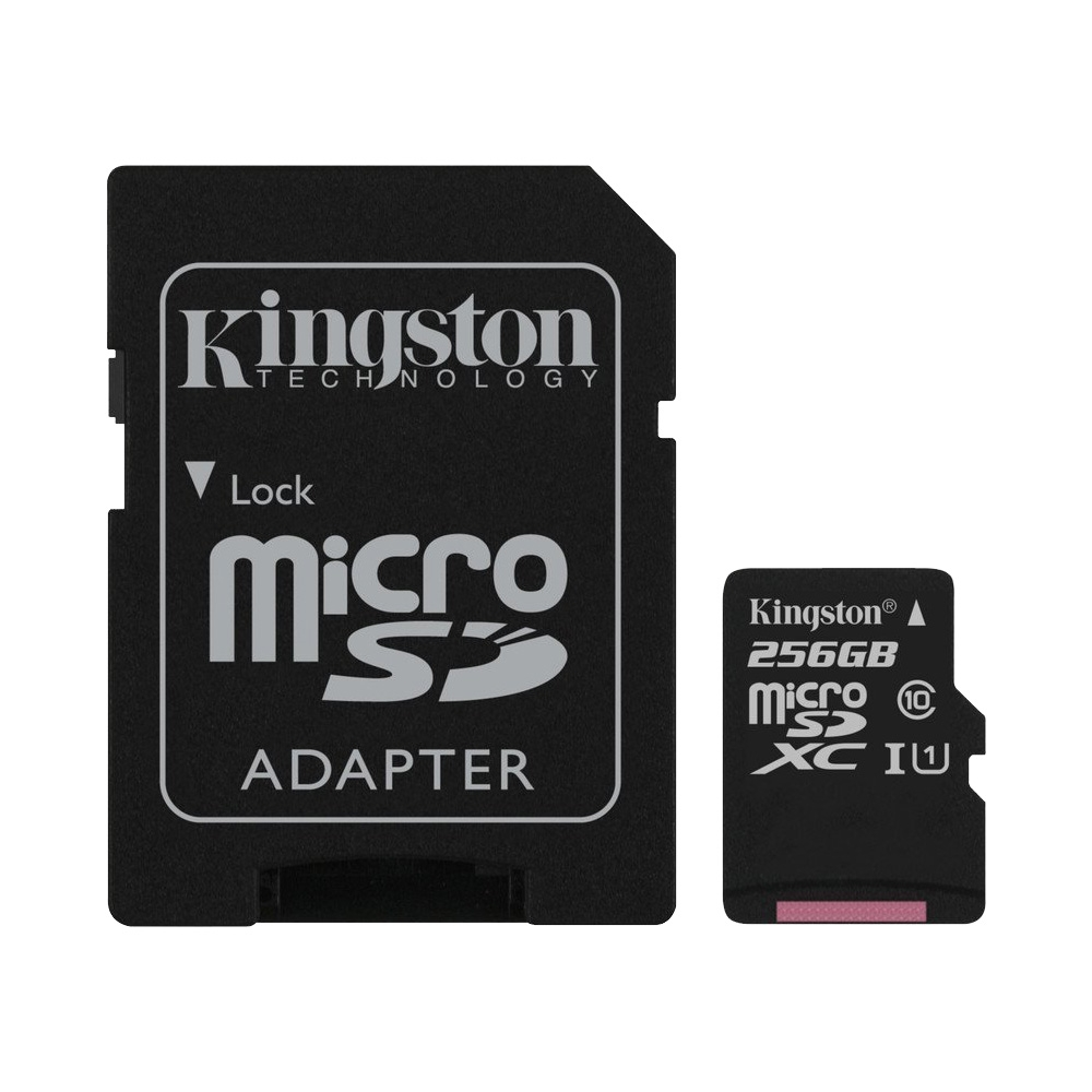 Thẻ Nhớ MicroSDXC Kingston Canvas Select 256GB Class 10 U1 80MB/s SDCS/256GB (Kèm Adapter)