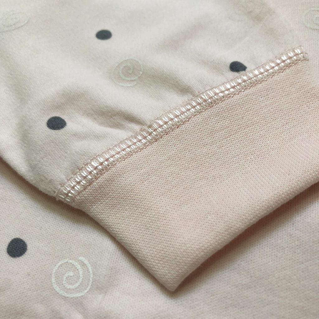 Bộ body cotton nỉ chấm bi nhiều màu