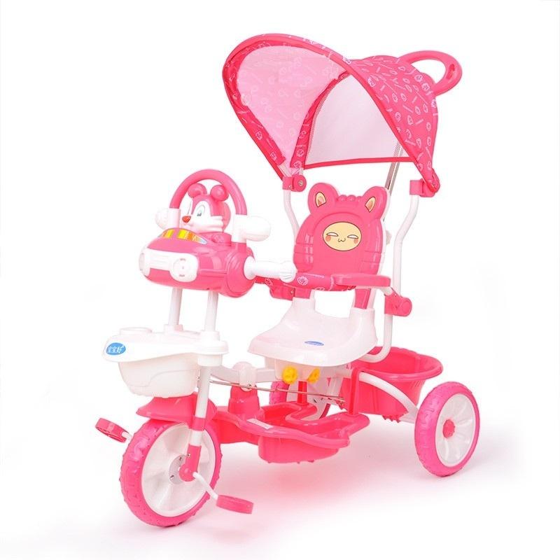 xe đẩy ba bánh 231G màu hồng cho bé gái