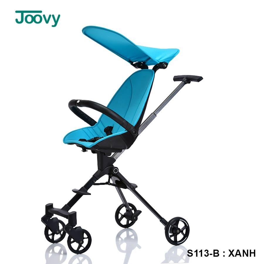 Xe đẩy du lịch gấp gọn 2 chiều cao cấp Joovy Qatta S113 màu xanh