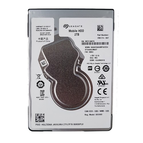 Ổ cứng Laptop Seagate 2TB - 5400RPM