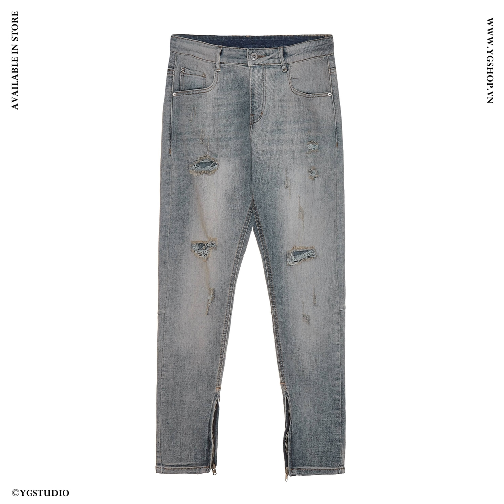 Denim Indigo Waxed Zipper