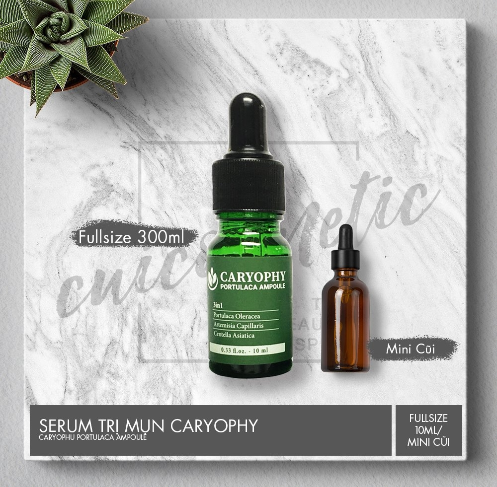 CARYOPHY PORTULACA AMPOULE 10ML - Tinh Chất Trị Mụn Caryophy