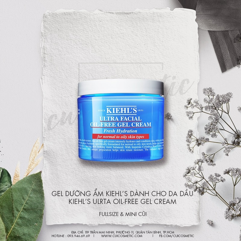 Gel Dưỡng Ẩm Kieh's Ultra Facial Oil-Free Gel Cream