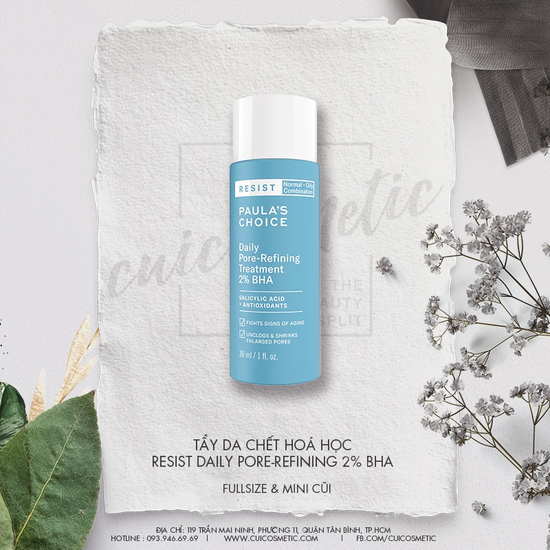 Tẩy Da Chết Hóa Học 2% BHA | Paula's Choice RESIST Daily Pore-Refining Treatment With 2% BHA 30ml