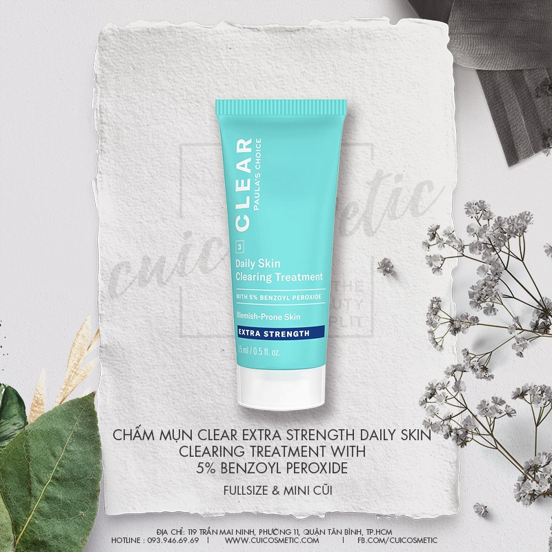 Paula's Choice Daily Skin Clearing Treatment Benzoyl Peroxide - Kem Trị Mụn