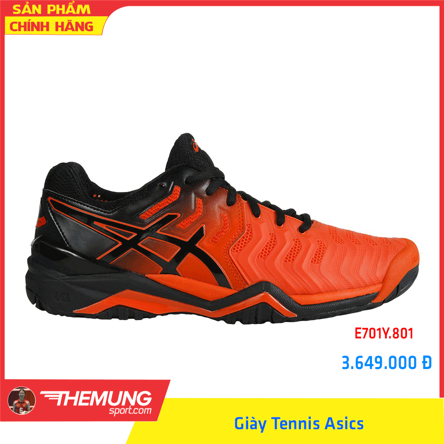 Giày Tennis Asics Nam GEL-RESOLUTION 7 E701Y.801 (Cam)