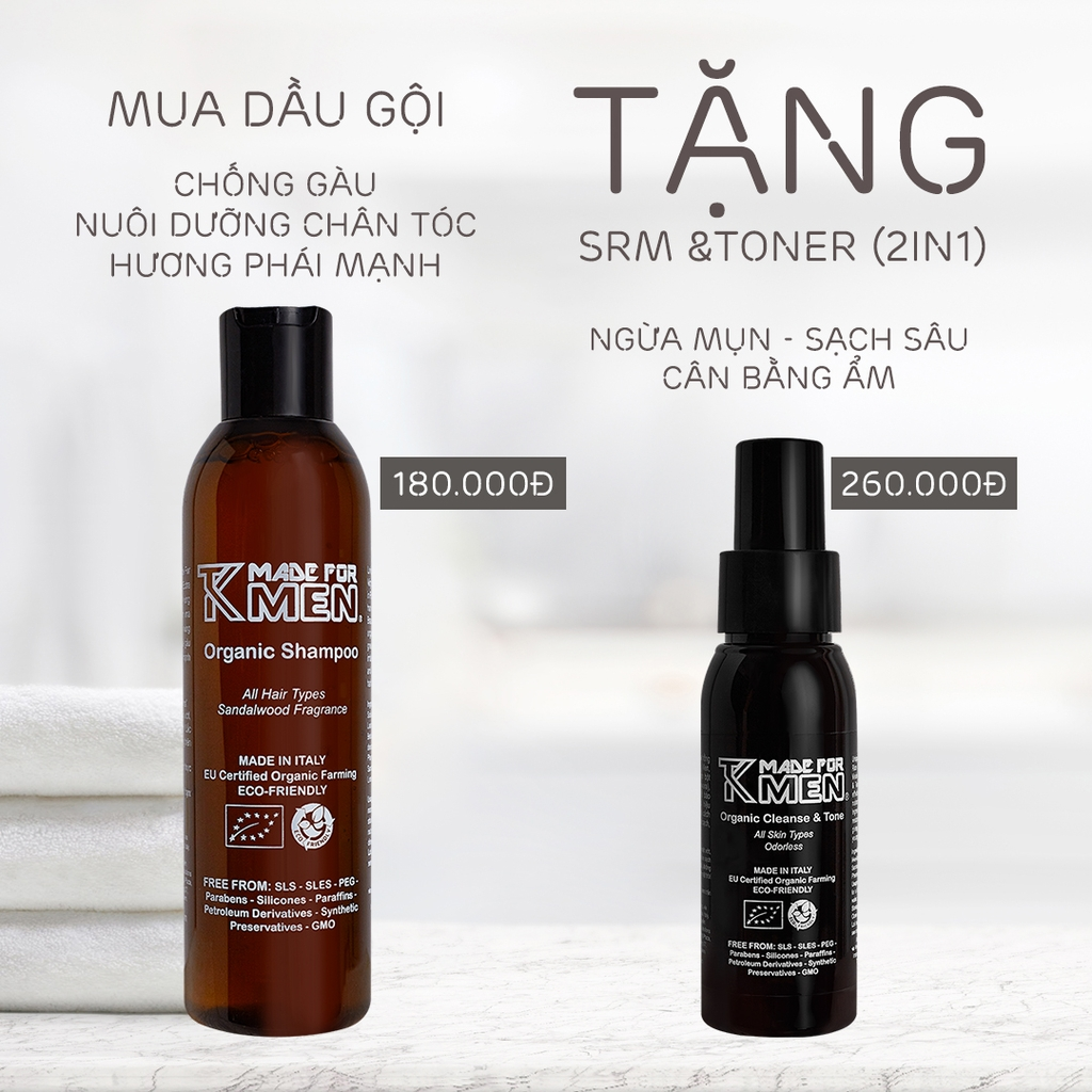 Dầu Gội Đầu Organic TK Made For Men