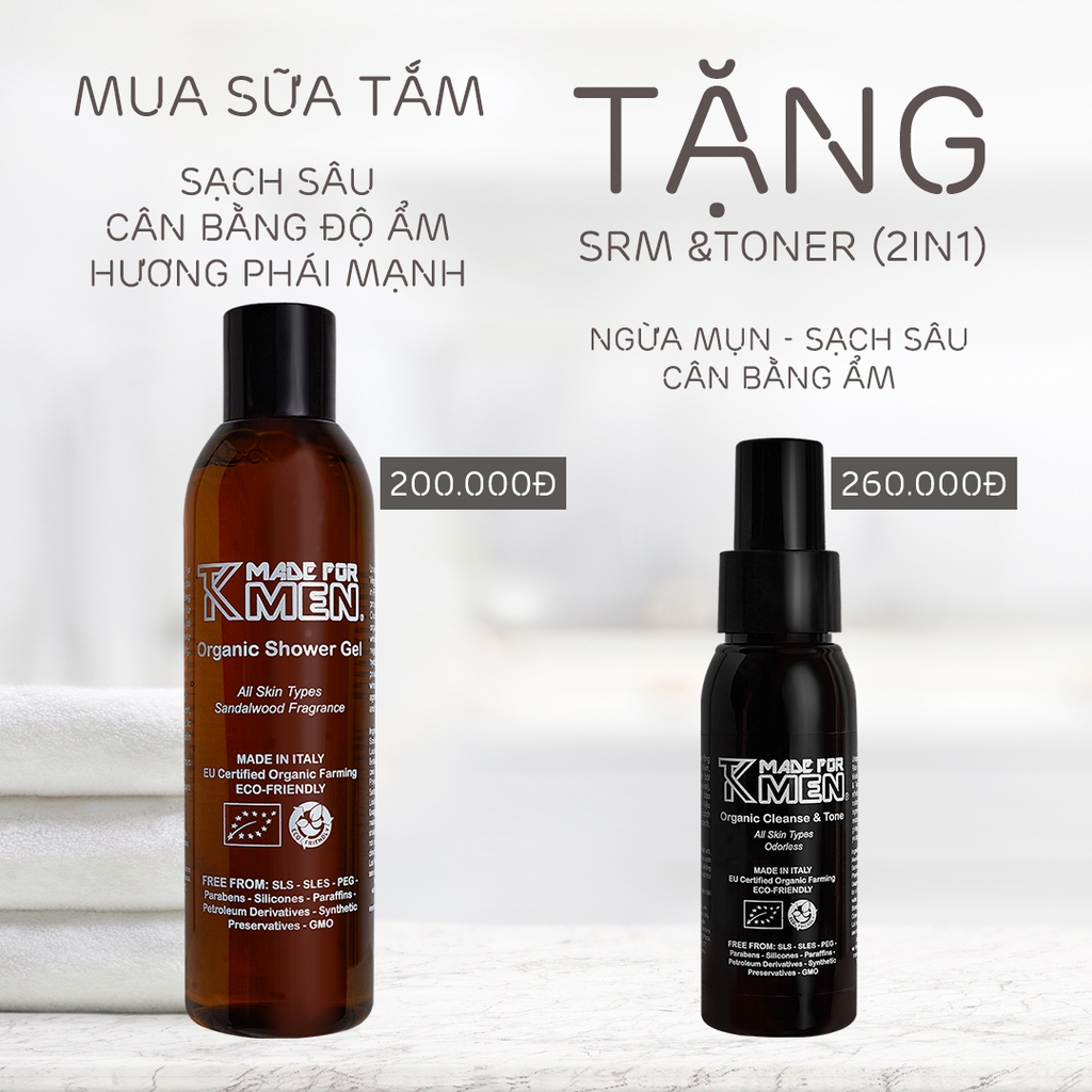 Sữa Tắm Organic TK Made For Men