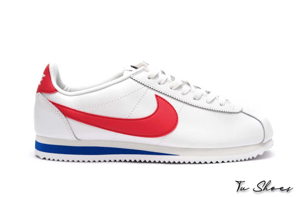 Cortez Leather White Red