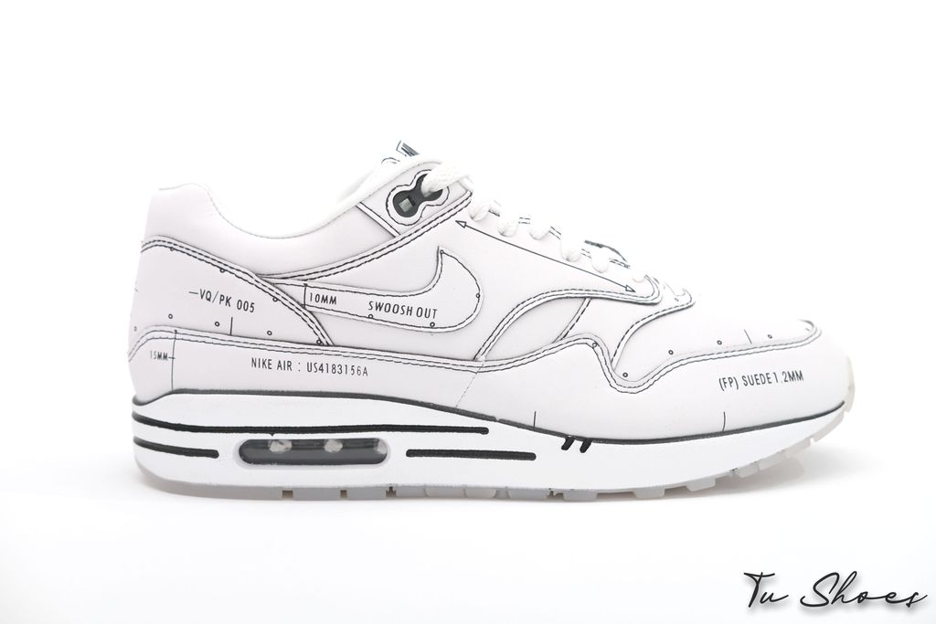 Air Max 1 Sketch To Shelf White