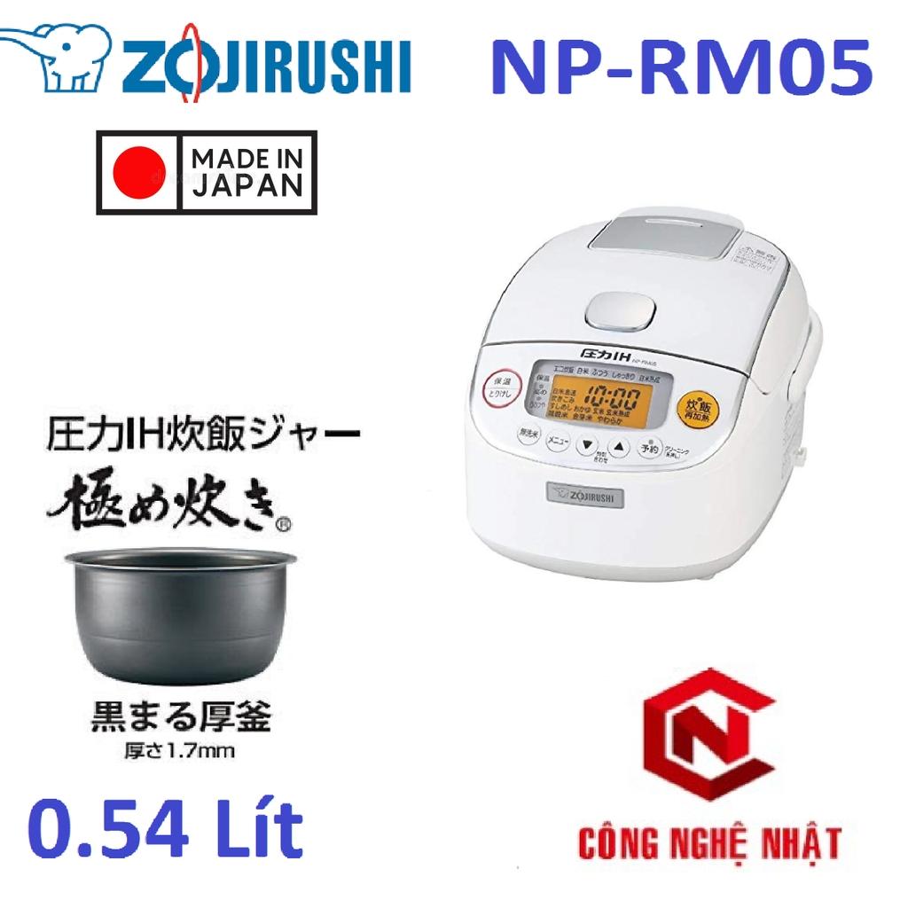 Nồi cơm điện cao tần áp suất Zojirushi NP-RM05 0.54L nội địa Nhật Mới