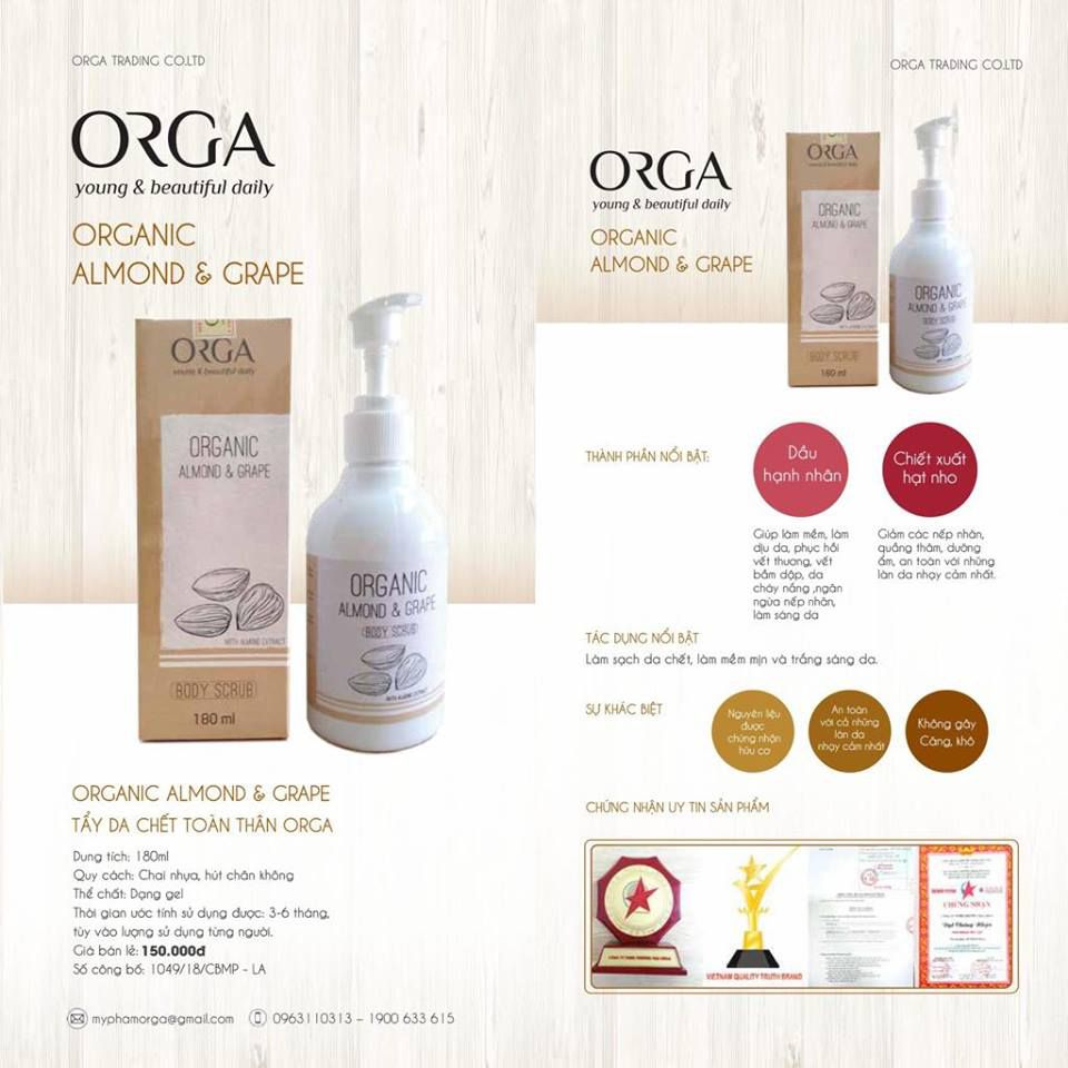 Tẩy da chết body ORGA Body Almond & Grape