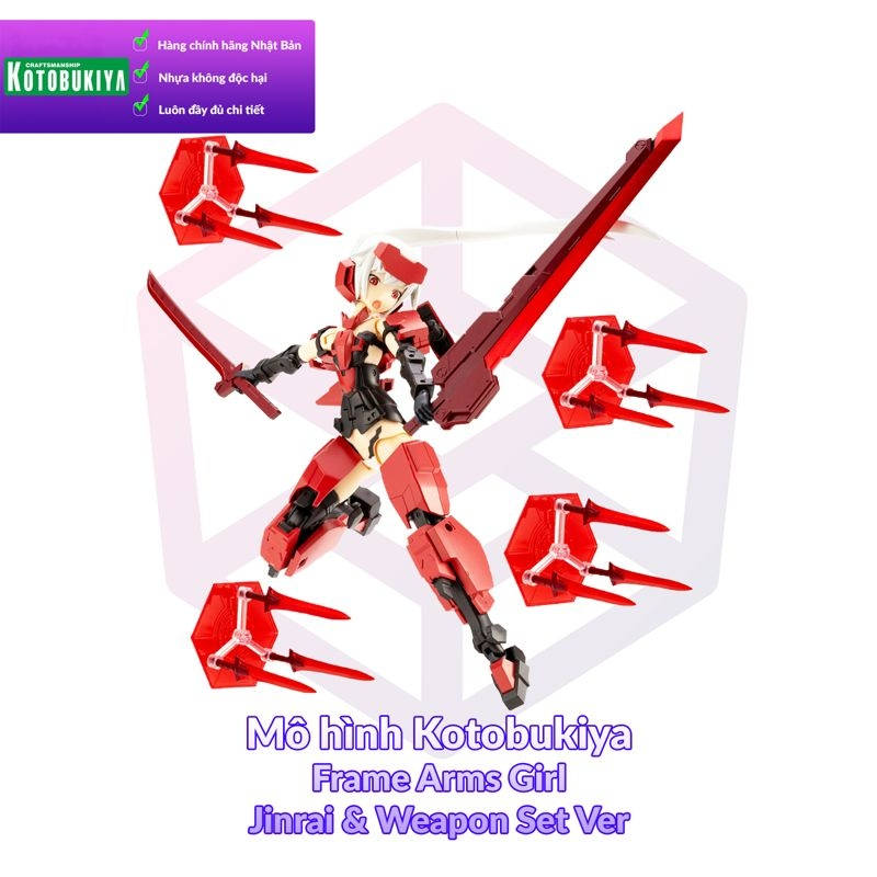 Kotobukiya Frame Arms Girl Jinrai & Weapon Set Ver