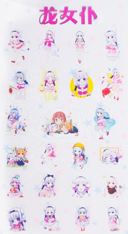 Sticker Trong suốt Chibi - Maid Dragon