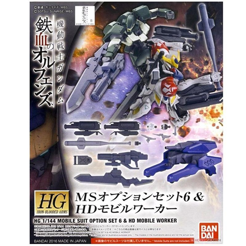 Mô hình lắp ráp Bandai MS Option Set 6 & HD Mobile Worker [GDB] [BHG]