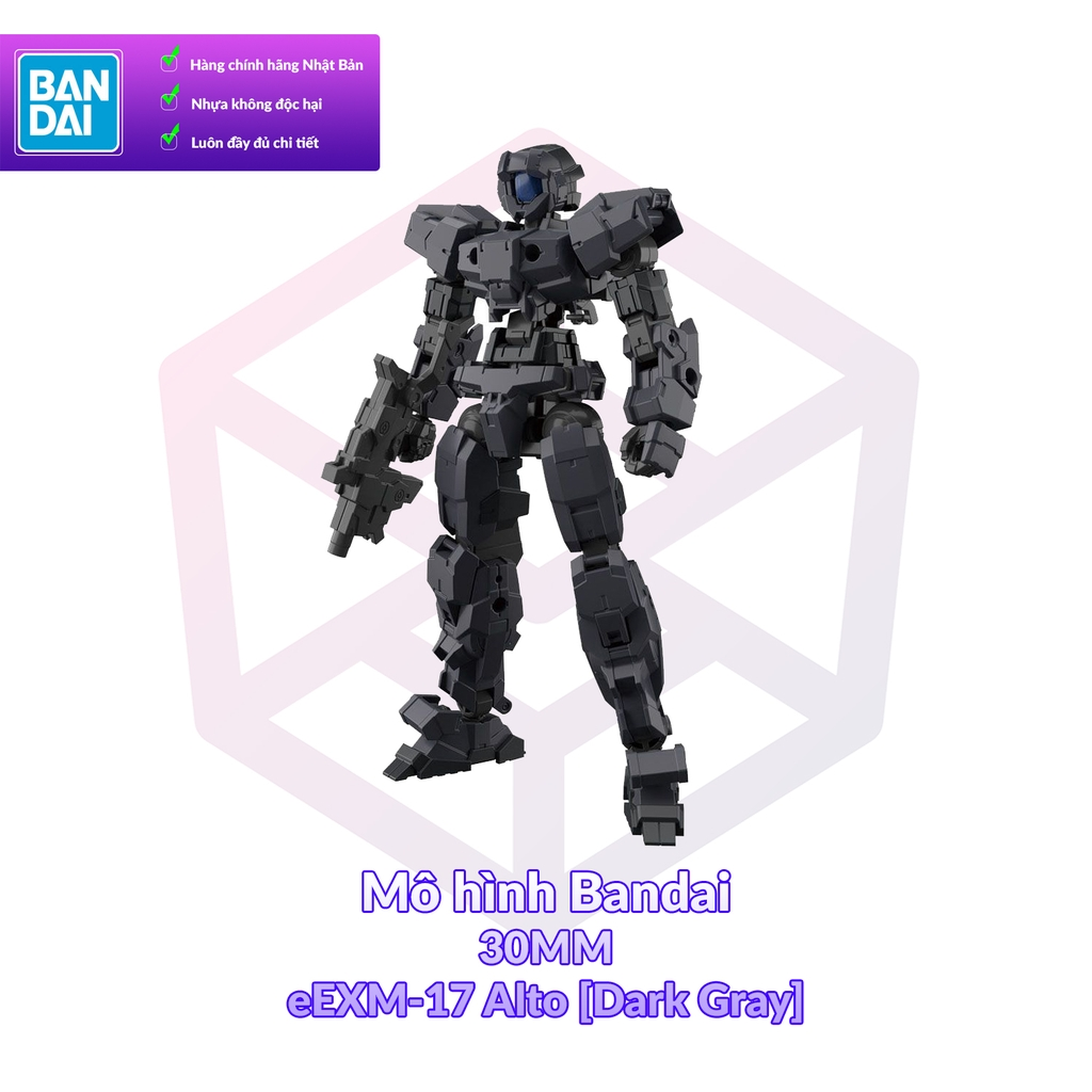 Mô hình Bandai 30MM eEXM-17 Alto [Dark Gray] [30MM]