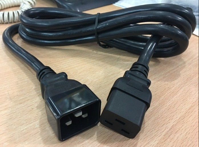 Dây Nguồn Server Well Shin WS-003D WS-002F AC Power Cord IEC60320 C19 To C20 20A 250V 12AWG 3x3.31mm For Máy Chủ Và Cisco Router Length 2M