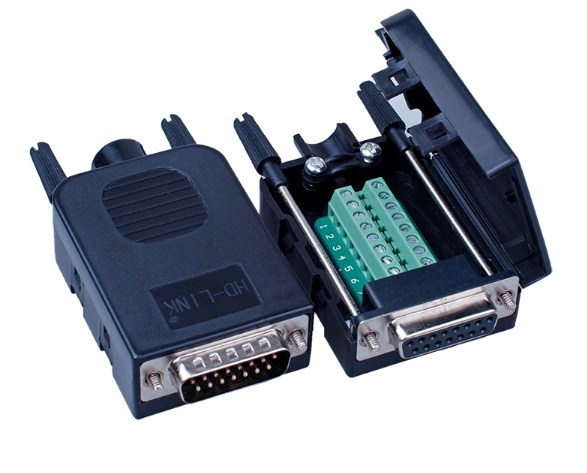 Rắc Cắm Mô Dun Bắt Vít Khối DB15 15-Pin Female D-SUB 2 Row Adapter Signals Module RS232 Serial DCE to Termina