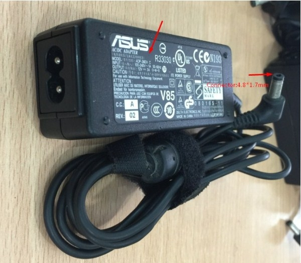 Adapter Original ASUS ADP-36EH C For Eee PC Series 900,1000, NETBOOKS 12V 3A Connector:4.8*1.7mm