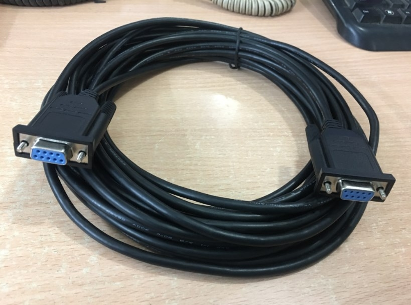Cáp RS232 Chất Lượng Cao Simple Null-Modem Cable Without Handshaking Serial Cable DB9 Female to DB9 Female Black Length 10M